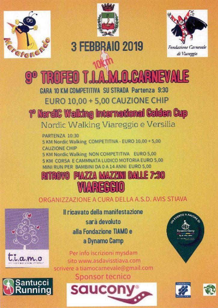 Calendario Carnevale Viareggio 2020.9 Trofeo T I A M O Carnevale Spezia Marathon Dlf La Spezia